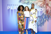 Amy Aniobi, Lisa Sugar and Issa Rae attend the POPSUGAR Play/Ground at Pier 94 on June 23, 2019 in New York City.