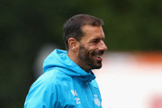 Ruud van Nistelrooy, Manager of PSV celebrates his sides second goal during the UEFA Youth League Group B match between PSV and Tottenham Hotspur at the Sportcomplex de Herdgang on October 24, 2018 in Eindhoven, Netherlands.