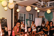 Deja Riley leads a high-intensity workout class as PUMA And Refinery29 Host The Launch Of The New PUMA LQD CELL Shatter Shoe at Refinery29 on July 11, 2019 in New York City.