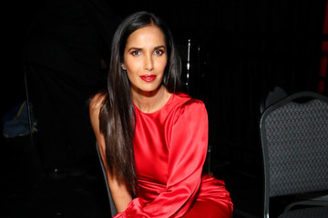 Padma Lakshmi The American Heart Association's Go Red For Women Red Dress Collection 2019 - Backstage