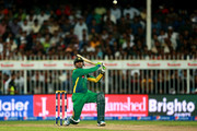 Shoaib Malik of Pakistan hits the ball for a straight six during the 3rd International T20 match between Pakistan and England at Sharjah Cricket Stadium on November 30, 2015 in Sharjah, United Arab Emirates.