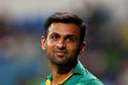 Shoaib Malik of Pakistan looks on during the third T20 International match between Pakistan and West Indies at Zayed Cricket Stadium on September 27, 2016 in Abu Dhabi, United Arab Emirates.