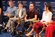 "(L-R) Michael Rapaport, Brigette Lundy-Paine, Keir Gilchrist and Amy Okuda from Netflix's ""Atypical"" appear on stage at The Paley Center for Media's 2018 PaleyFest Fall TV Previews - Netflix at The Paley Center for Media on September 6, 2018 in Beverly Hills, California."
