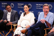 "(L-R) Damon Wayans Jr., Amber Stevens West and Tim McAuliffe from ""Happy Together"" appear on stage at The Paley Center for Media's 2018 PaleyFest Fall TV Previews - CBS at The Paley Center for Media on September 12, 2018 in Beverly Hills, California."