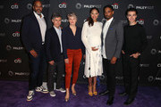 "(L-R) Victor Williams, Chris Parnell, Stephnie Weir, Amber Stevens West, Damon Wayans Jr. and Felix Mallard from ""Happy Together"" attend The Paley Center for Media's 2018 PaleyFest Fall TV Previews - CBS at The Paley Center for Media on September 12, 2018 in Beverly Hills, California."