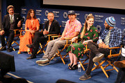 """(L-R) Paul F. Tompkins, Alison Brie, Aaron Paul, Mike Hollingsworth, Lisa Hanawalt and Raphael Bob-Waksberg from Netflix's """"BoJack Horseman"""" appear on stage at The Paley Center for Media's 2018 PaleyFest Fall TV Previews - Netflix at The Paley Center for Media on September 6, 2018 in Beverly Hills, California."""