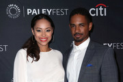 "Amber Stevens West (L) and Damon Wayans Jr. from ""Happy Together"" attend The Paley Center for Media's 2018 PaleyFest Fall TV Previews - CBS at The Paley Center for Media on September 12, 2018 in Beverly Hills, California."