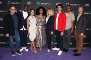 "(L-R) Greg Spottiswood, J. Alex Brinson, Jessica Camacho, Simone Missick, Marg Helgenberger, Wilson Bethel, Sunil Nayar and Michael M. Robin of ""All Rise"" attend The Paley Center for Media's 2019 PaleyFest Fall TV Previews - CBS at The Paley Center for Media on September 12, 2019 in Beverly Hills, California."