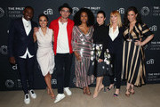 "(L-R) J. Alex Brinson, Jessica Camacho, Wilson Bethel, Simone Missick, Ruthie Ann Miles, Marg Helgenberger and Lindsay Mendez of ""All Rise"" attend The Paley Center for Media's 2019 PaleyFest Fall TV Previews - CBS at The Paley Center for Media on September 12, 2019 in Beverly Hills, California."