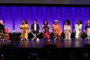 "Ryan Murphy, Janet Mock, Steven Canals, MJ Rodriguez, Billy Porter, Indya Moore, Dominique Jackson and Our Lady J attend the Paley Center For Media's 2019 PaleyFest LA - ""Pose"" held at the Dolby Theater on March 23, 2019 in Los Angeles, California."