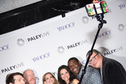 """Timothy Simons, Gary Cole, Matt Walsh, Anna Chlumsky, Julia Louis-Dreyfus, Sam Richardson and  Kevin Dunn attend as The Paley Center for Media hosts an evening with the cast of """"VEEP"""" at Paley Center For Media on April 7, 2015 in New York City."""