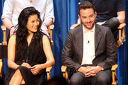 Actress Jadyn Wong, (L) and actor Eddie Kaye Thomas speak during The Paley Center for Media's PaleyFest 2014 Fall TV Review - CBS, at The Paley Center for Media on September 7, 2014 in Beverly Hills, California.
