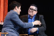 """Actors Jason Biggs and Lea DeLaria on stage at The Paley Center For Media's PaleyFest 2014 Honoring """"Orange Is The New Black"""" at Dolby Theatre on March 14, 2014 in Hollywood, California."""