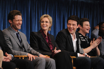 """Jane Lynch Cory Monteith Paley Center For Media's Paleyfest 2011 Event Honoring """"Glee"""""""