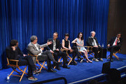 Creator/writer Sam Shaw, director Thomas Schlamme, actors John Benjamin Hickey, Olivia Williams, Rachel Brosnahan, Daniel Stern and former New Mexico Governer Bill Richardson attend The Paley Center For Media Presents An Evening With WGN America's 'Manhattan' at The Paley Center for Media on July 9, 2014 in Beverly Hills, California.