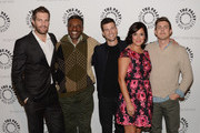 Actors Geoff Stults, Keith David, Parker Young, Angelique Cabral and Chris Lowell attend The Paley Center For Media Presents FOX's 'Enlisted' Premiere And Screening at The Paley Center for Media on January 7, 2014 in Beverly Hills, California.
