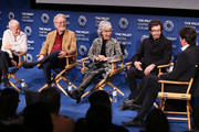 """(L-R) Eliot Feld, Russ Tamblyn, Rita Moreno, George Chakiris and Rob Marshall appear on stage at """"Words On Dance: Jerome Robbins and West Side Story"""" presented by The Paley Center for Media at The Paley Center for Media on October 11, 2018 in Beverly Hills, California."""