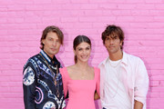 Elisa Sednaoui (C) and Pandora VP Directors Francesco Terzo and Filippo Ficarelli attend Pandora Street Of Loves on August 28, 2019 in Los Angeles, California.