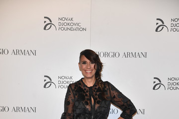 Paola Maugeri Tennis Meets Fashion at the Milano Gala Dinner Benefitting the Novak Djokovic Foundation Presented by Giorgio Armani