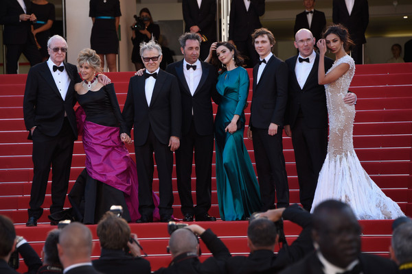 'La Tete Haute' Red Carpet - The 68th Annual Cannes Film Festival [event,dress,formal wear,performance,carpet,tradition,ceremony,suit,flooring,gown,la tete haute,red carpet,cannes film festival,premiere,micheal caine,harvey keitel,paolo sorrentino,jane fonda,rachel weisz,madalina ghenea]