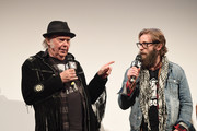 """Neil Young and Adam 'CK' Vollick attend the """"Paradox"""" Premiere 2018 SXSW Conference and Festivals at Paramount Theatre on March 15, 2018 in Austin, Texas."""