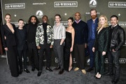 "(L-R) Gage Golightly, Nicholas Coombe, Fahim Fazil, Jeremy Tardy, Sam Keeley, Cristina Rodlo, Lamont Thompson, Derek Theler, Beth Riesgraf and Al Coronel attend Paramount Network's ""68 Whiskey"" Premiere Party at Sunset Tower on January 14, 2020 in Los Angeles, California."