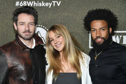 """(L-R) Ian Bohen, Hassie Harrison and Denim Richards attend Paramount Network's """"68 Whiskey"""" Premiere Party at Sunset Tower on January 14, 2020 in Los Angeles, California."""