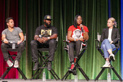 "Michael Gasparro, Tracy Martin, Sybrina Fulton, Julia Willoughby Nason on stage at ""Rest In Power: The Trayvon Martin Story"" Screening on July 26, 2018 in Venice, California."