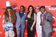 "Erykah Badu, James Lopez, Taraji P. Henson, Adam Shankman, and Will Packer attend Paramount Pictures' ""What Men Want"" Premiere at Regency Village Theatre on January 28, 2019 in Westwood, California."