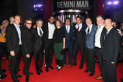 "(L-R) David Ellison, Jerry Bruckheimer, Ang Lee, Will Smith, Linda Emond, Benedict Wong, Clive Owen, Bill Westenhofer, and Guy Williams attend Paramount Pictures' premiere of ""Gemini Man"" on October 06, 2019 in Hollywood, California."