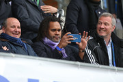 Christian Karembeu takes a photo prior to the UEFA Youth League Final match between Paris Saint Germain and Chelsea FC at Colovray Stadion on April 18, 2016 in Nyon, Switzerland.