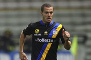 Djamel Mesbah of Parma FC in action during the Tim Cup match between Parma FC and AS Varese at Stadio Ennio Tardini on December 3, 2013 in Parma, Italy.