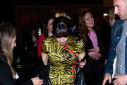Charli XcX attends the Pat McGrath 'A Technicolour Odyssey' Campaign launch party at Brasserie Of Light on April 04, 2019 in London, England.