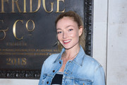 Clara Paget attends the Pat McGrath 'A Technicolour Odyssey' Campaign launch party at Brasserie of Light on April 04, 2019 in London, England.