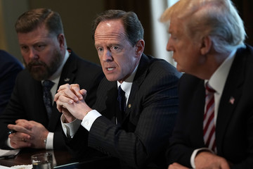 Pat Toomey President Trump Meets With Members Of Congress On Trade