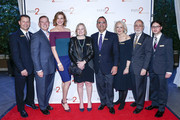Bradley Trivax MD, Don Hribek, Brenda Strong, Carolyn Berger, Ken Mosesian, Patricia Mendell, Bill Petok and Frank Golden arrive at Path2Parenthood - Illuminations LA 2016 at The Four Seasons Hotel on April 15, 2016 in Beverly Hills, California.