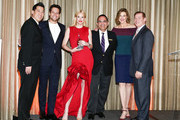 Andy Huang, Ioan Gruffudd, Alice Evans, Ken Mosesian, Brenda Strong and Don Hribek pose on stage at Path2Parenthood - Illuminations LA 2016 at The Four Seasons Hotel on April 15, 2016 in Beverly Hills, California.