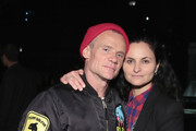 Flea and Rain Phoenix attend the After Party for Pathway To Paris Concert For Climate Action  on November 5, 2017 in New York City.
