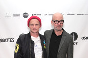 Flea and Michael Stipe attend the After Party for Pathway To Paris Concert For Climate Action  on November 5, 2017 in New York City.