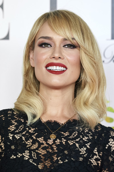 ELLE Charity Gala 2019 In Madrid [hair,face,blond,lip,hairstyle,eyebrow,chin,beauty,long hair,bangs,patricia conde,funds,cancer,elle charity gala,madrid,spain,intercontinental hotel]