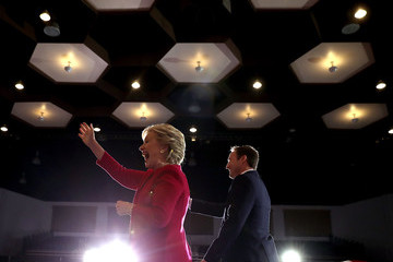 Patrick Murphy Hillary Clinton Campaigns In Florida Ahead Of Presidential Election