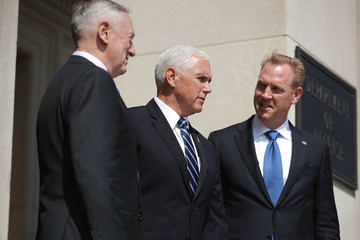 Patrick Shanahan VP Pence Delivers Remarks On Military In Space During Visit To The Pentagon