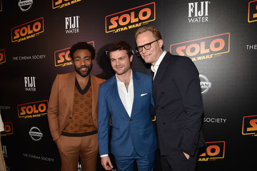 Paul Bettany Donald Glover FIJI Water With The Cinema Society Host A Screening Of 'Solo: A Star Wars Story'