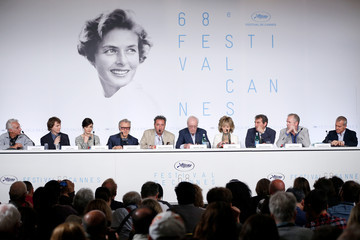 Paul Dano Harvey Keitel 'Youth' Press Conference - The 68th Annual Cannes Film Festival