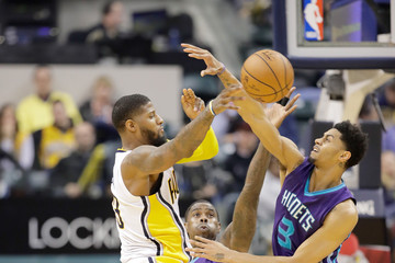 Paul George Charlotte Hornets v Indiana Pacers