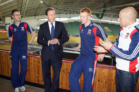 Prime Minister David Cameron Visits A Sports Centre In Manchester