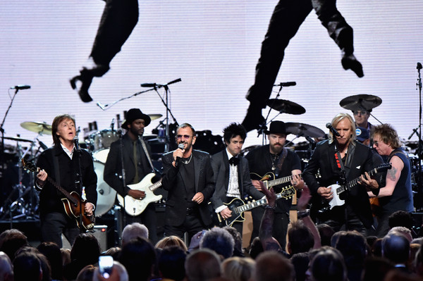 30th Annual Rock And Roll Hall Of Fame Induction Ceremony - Show [performance,music,event,musician,concert,musical ensemble,public event,performing arts,stage,crowd,paul mccartney,inductees,ringo starr,gary clark jr.,billie joe armstrong,zac brown,joe walsh,public hall,green day,rock and roll hall of fame induction ceremony - show]