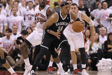 Paul Pierce Brooklyn Nets v Toronto Raptors - Game One