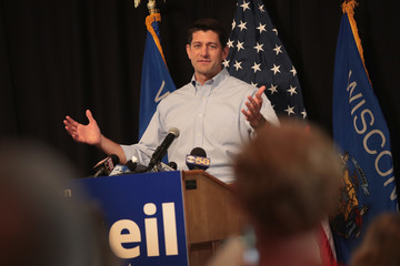 Paul Ryan - Politician Paul Ryan Campaigns With GOP Senate Candidate Bryan Steil In Wisconsin