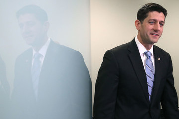 Paul Ryan Donald Trump Meets With House Republicans During Their Weekly Party Conference